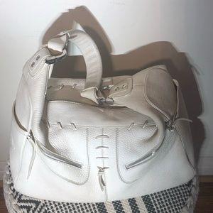 Tod's milky leather handbag off white shoulder bag